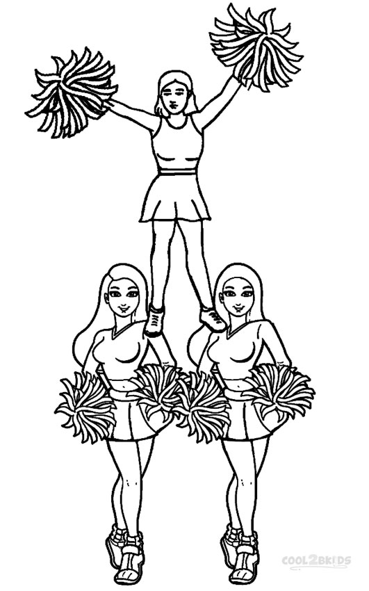 531x850 Printable Cheerleading Coloring Pages For Kids