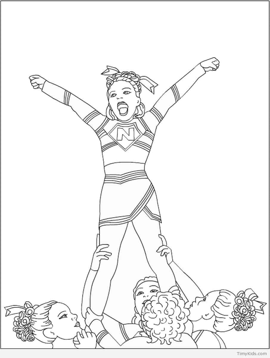 906x1200 Cheerleader Coloring Pages Http Timykids Com Book Html