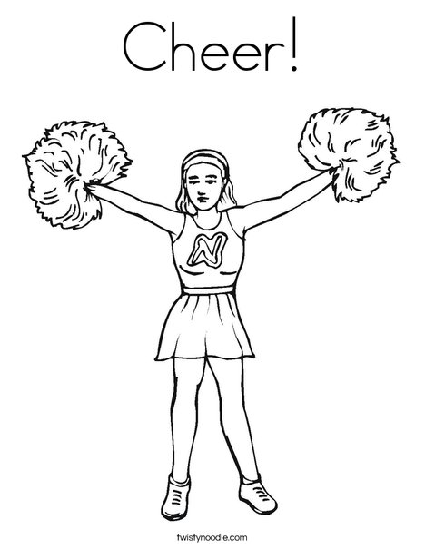 468x605 Cheer Coloring Page