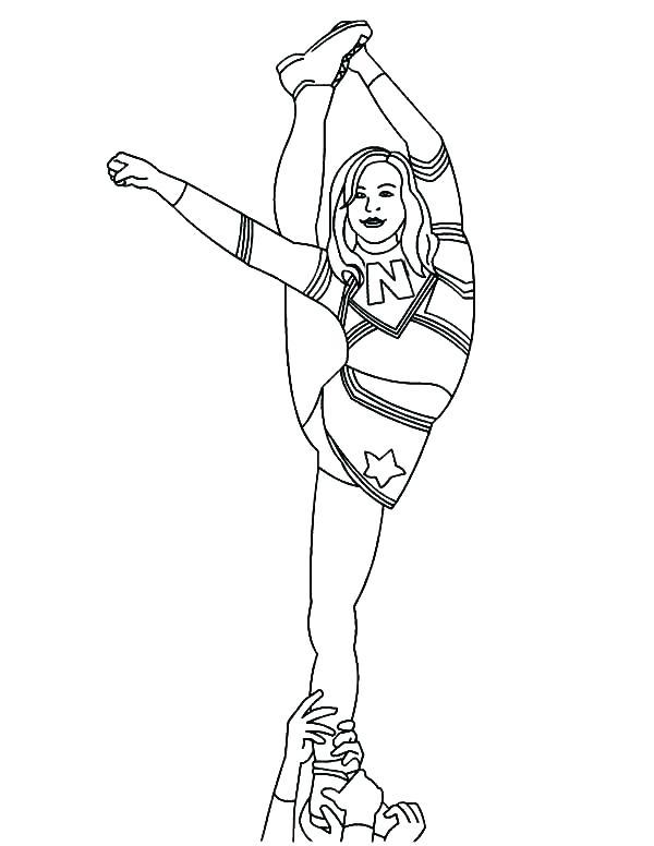 600x776 Cheerleader Coloring Pages Cheerleader Coloring Sheet Cheerleaders