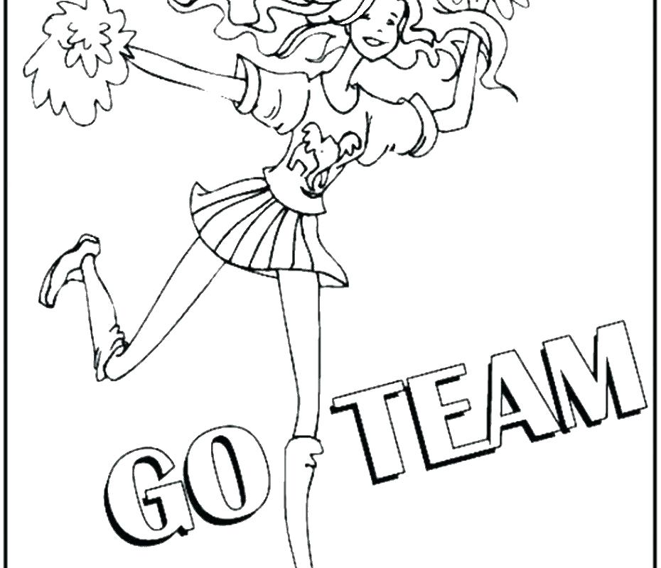 930x800 Cheerleader Coloring Pages Great Cheerleader Coloring Page Free