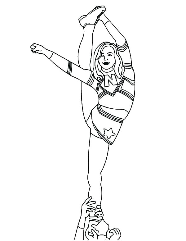 600x776 Cheerleaders Coloring Pages Cheerleader Coloring Pages Also
