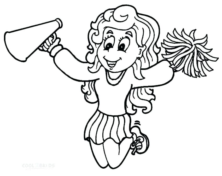 850x674 Cheerleading Coloring Pages Cheerleader Coloring Pages