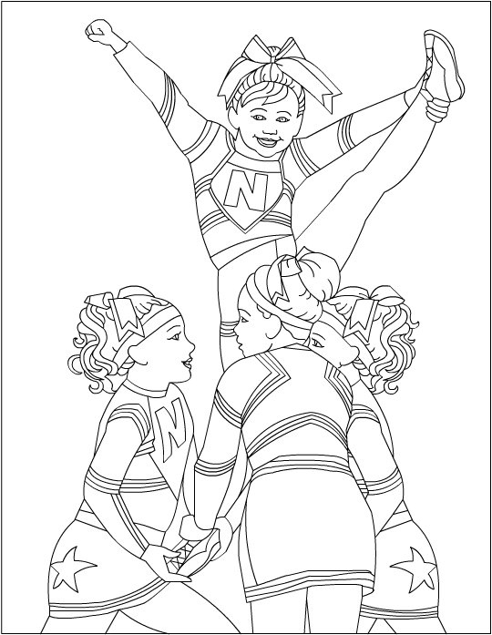 540x697 Beautiful Cheerleading Coloring Pages Logo And Design Ideas