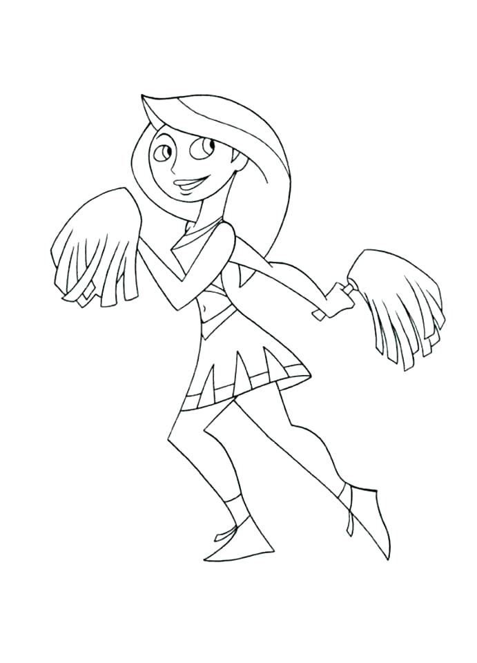 691x960 Cheerleading Coloring Pages Free Printable Coloring Sheets Lovely