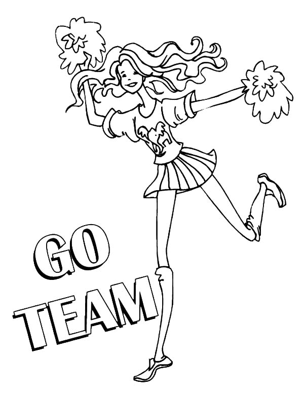 600x775 Funky Coloring Pages Of Cheerleading Stunts Motif