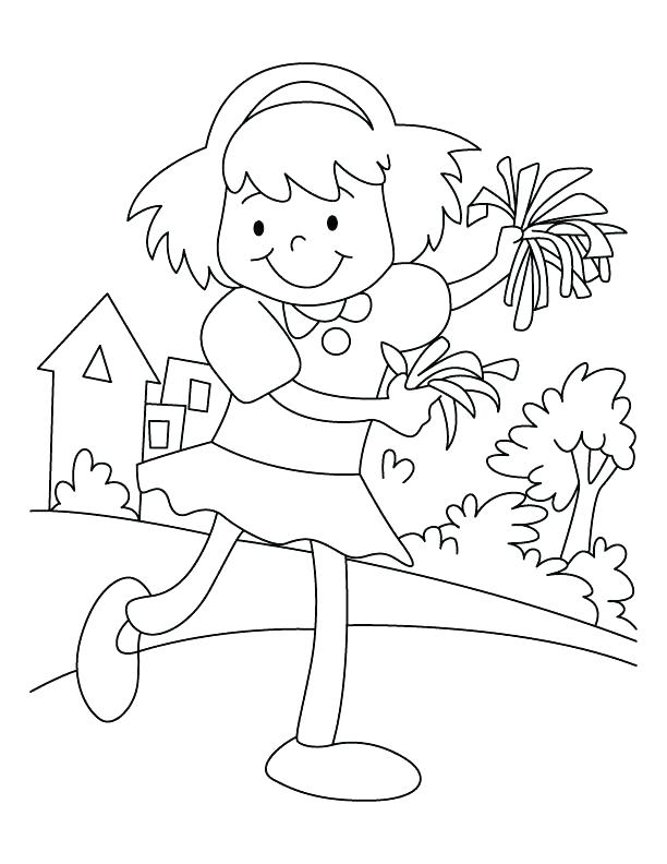 612x792 Cheer Coloring Pages Cheerleader Coloring Pages Free Cheer Stunt