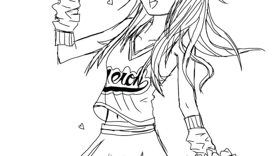 960x544 Cheer Coloring Pages Coloring Pages Cheerleader Cheer Stunt