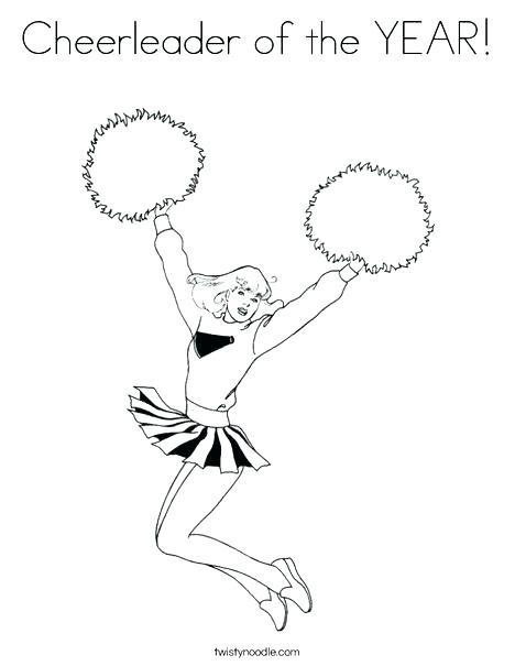 468x605 Cheerleader Coloring Page Cheer Coloring Pages Cheerleader Jumping