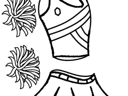 440x330 Cheer Coloring Pages, Cheerleader Difficult Stunt Coloring