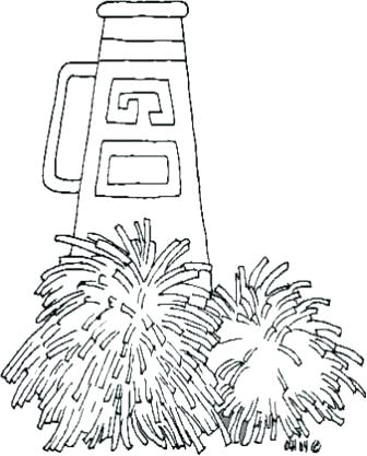 336x417 Cheerleading Coloring Pages Cheer Coloring Pages In Time Dance