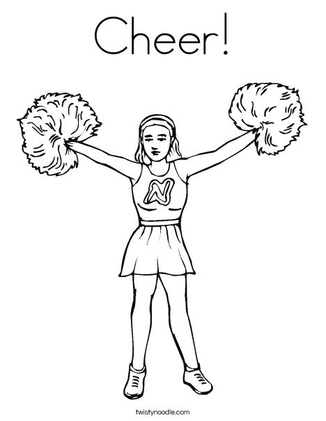 468x605 Cheerleading Coloring Pages Cheerleader Coloring Page With Team