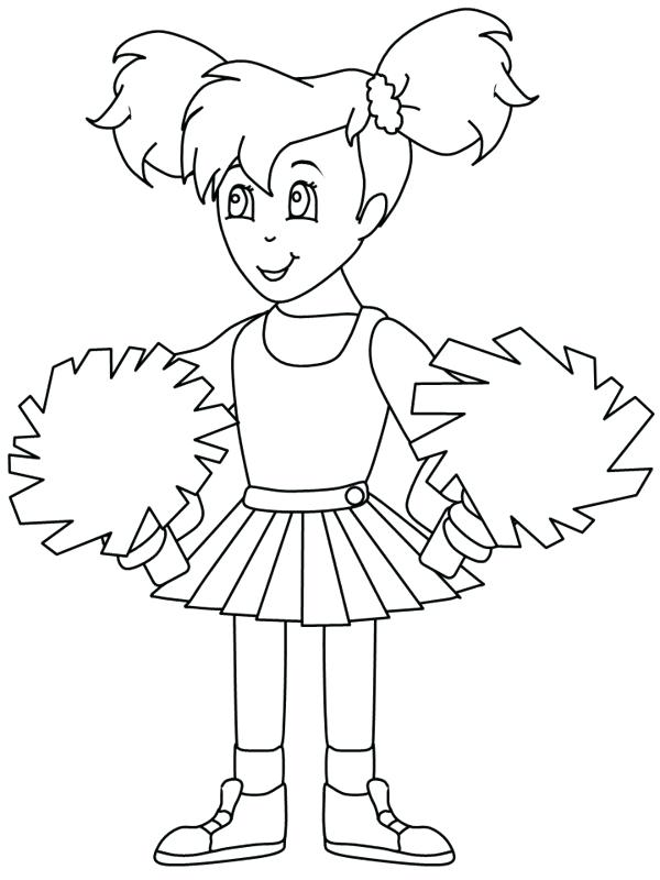 600x800 Cheerleading Coloring Pages Coloring Pages Elegant Cheerleader