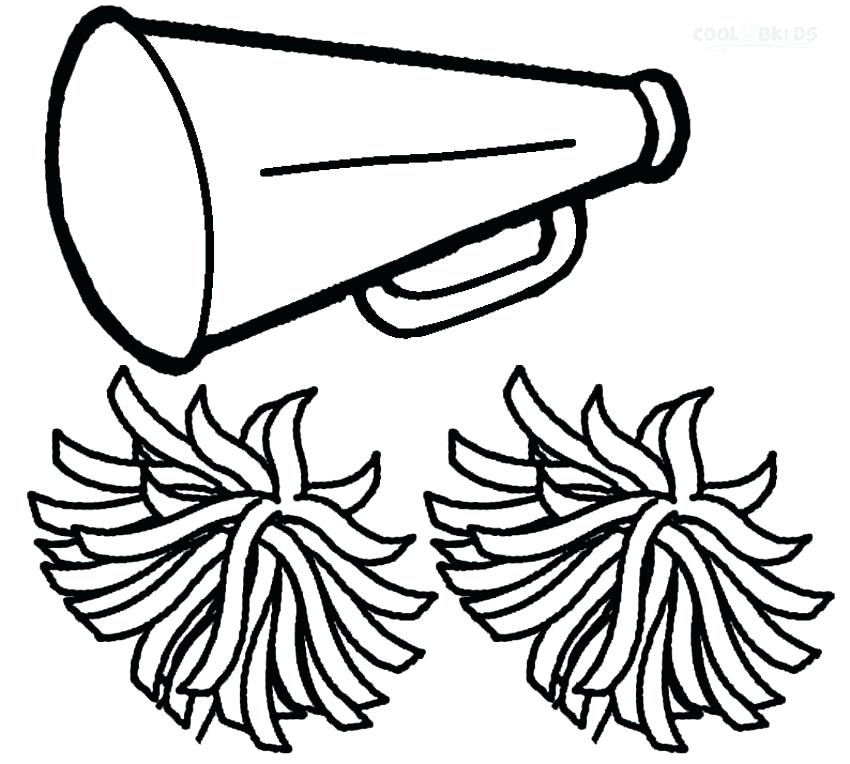 850x764 Cheerleading Coloring Pages Megaphone Coloring Pages Cheerleading