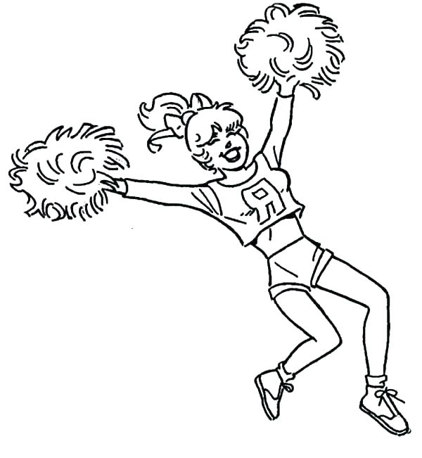 600x651 Cheerleading Coloring Pages