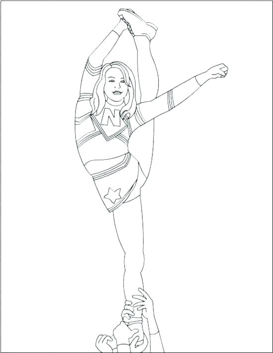 550x711 Cheerleading Coloring Sheets Coloring Pages Cheerleader Coloring