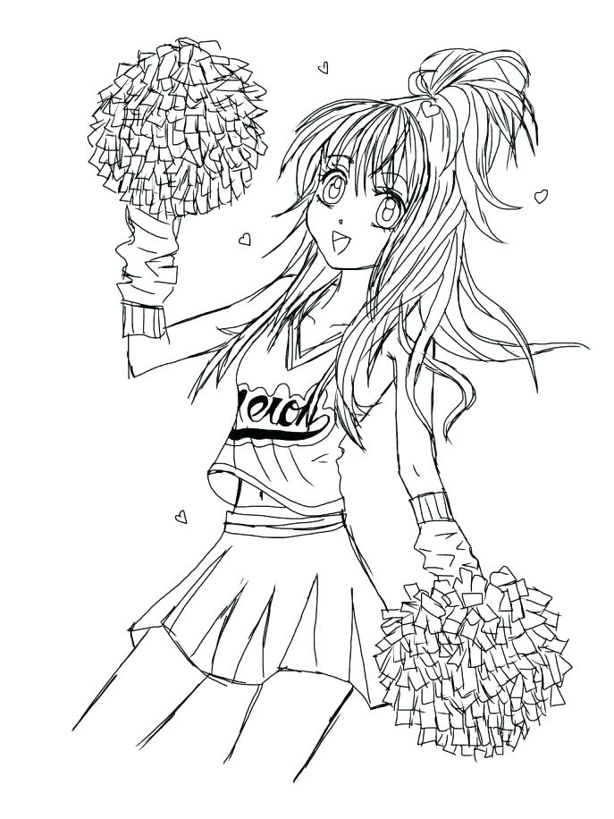 687x916 Cheerleading Coloring Sheets Coloring Pages Medium Size