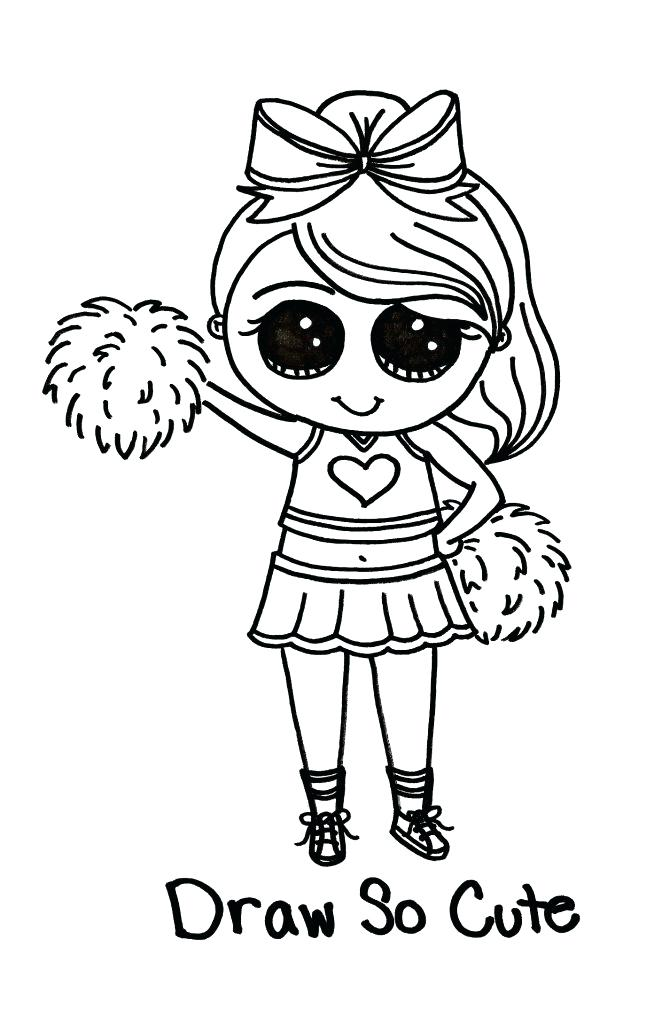 662x1024 Cute Little Girl Cheerleader Coloring Pages Best Place To Color