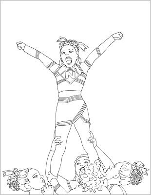 310x400 Free Coloring Pages Cheerleading Coloring Pages !my Coloring