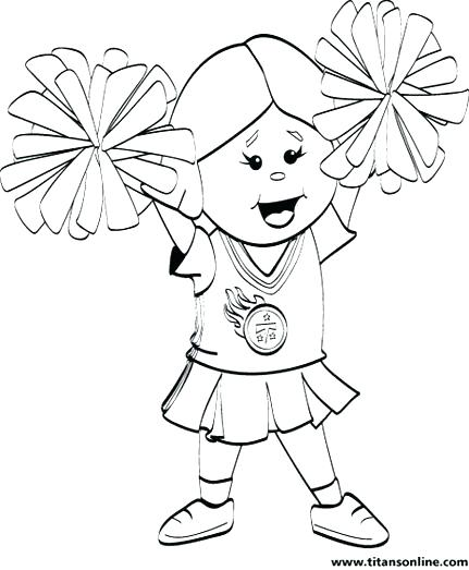 431x523 Cheerleading Coloring Pages Coloring Ideas Pro