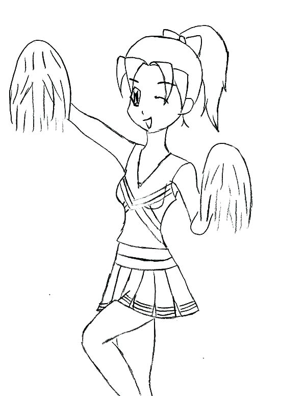 600x776 Cheerleading Coloring Pages