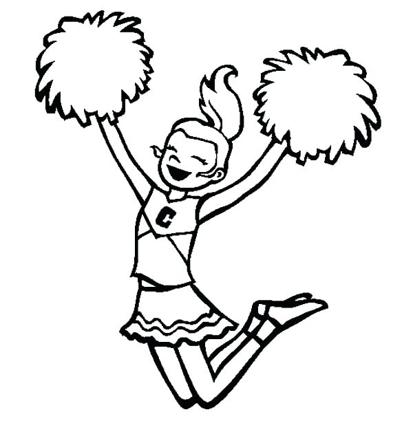 600x612 Cheer Coloring Pages Cheerleader Coloring Pages Free Cheer Stunt