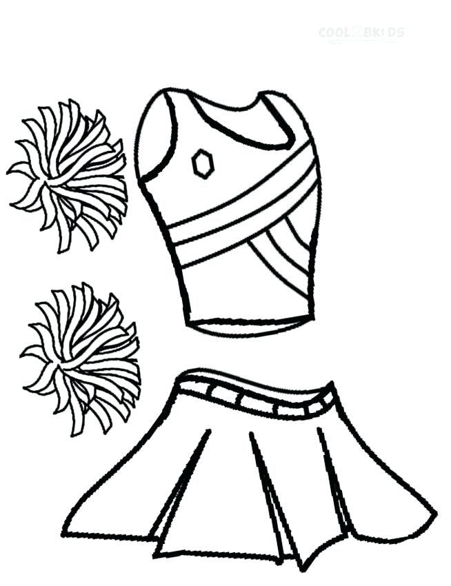 654x850 Cheer Coloring Pages Cheerleader Uniform Coloring Pages