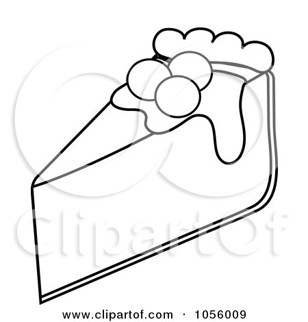 450x470 Royalty Free Vector Clip Art Illustration Of An Outline Of A Slice