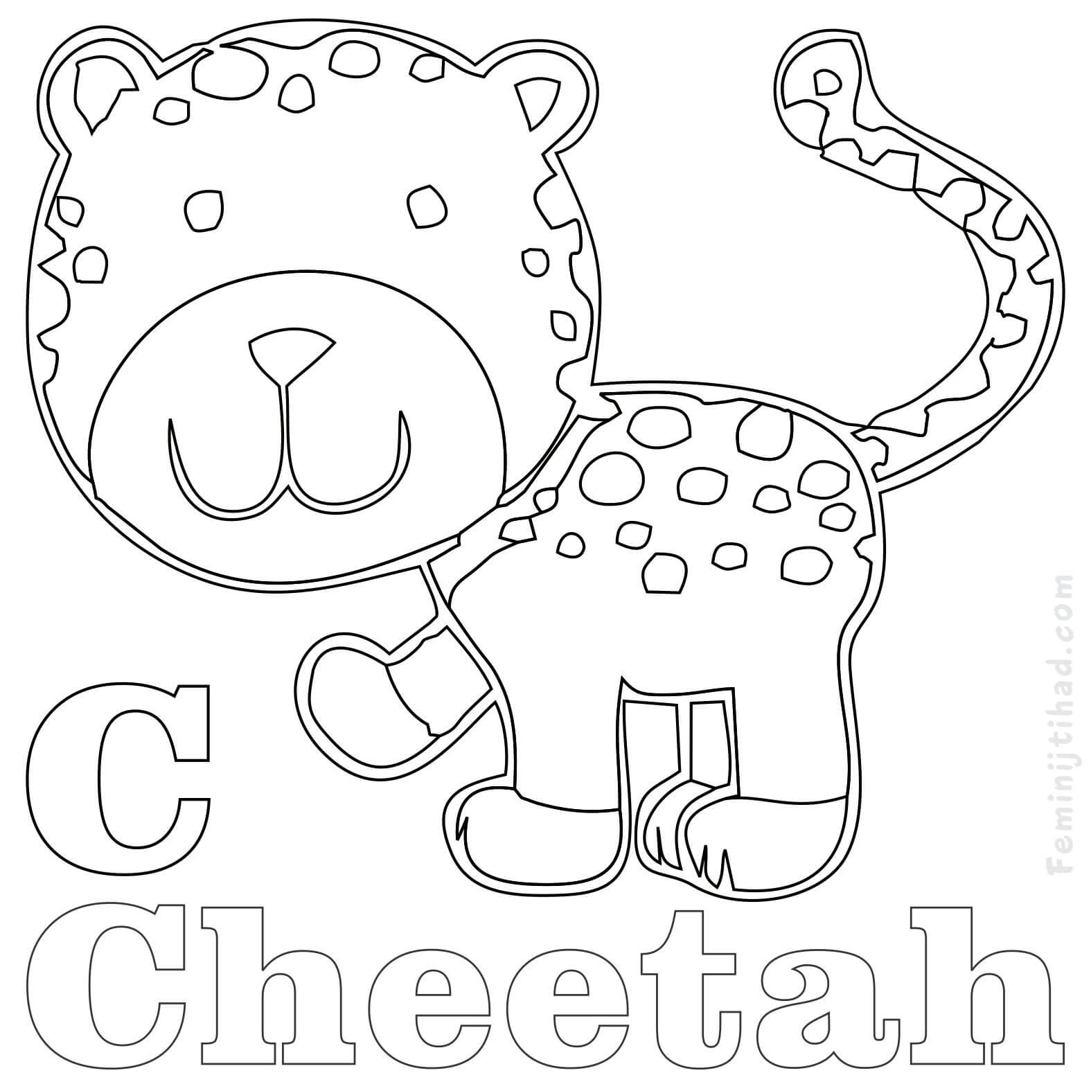 1575x1575 Cheetah Coloring Pages Collection Coloring Pages For Kids