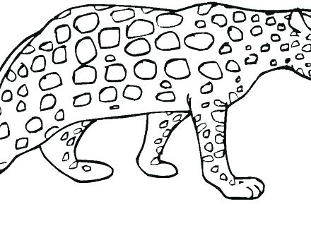 440x330 Cheetah Coloring Pages To Print Cheetah Coloring Pages To Print