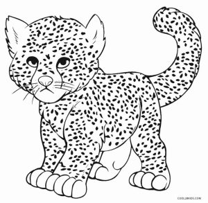 300x293 Coloring Pages Of Cheetahs