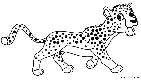 600x340 Real Cheetah Coloring Pages Printable Coloring Animal Coloring