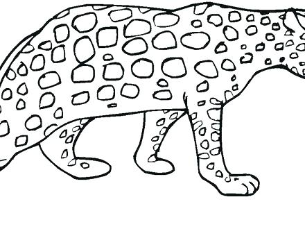 440x330 Simple Cheetah Coloring Pages Kids Free Page Cute Baby Simple