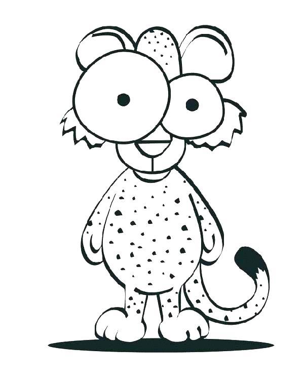600x750 Cheetah Cub Coloring Pages