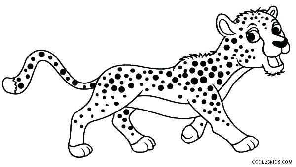 600x340 Cheetah Coloring Pages Online Printable Coloring Cheetah Coloring