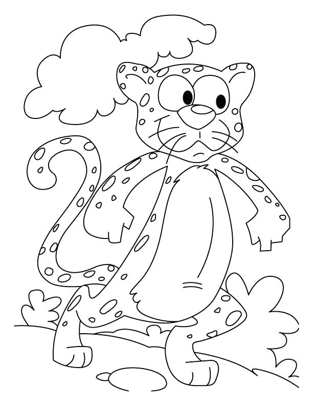 612x792 Kids Cartoon Cheetah Coloring Pages Of Running Murs