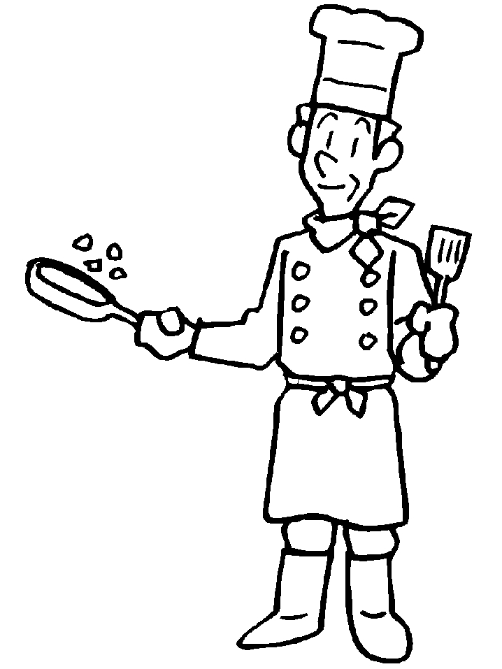 718x957 Chef Coloring Page Chef People Coloring Pages Coloring Book