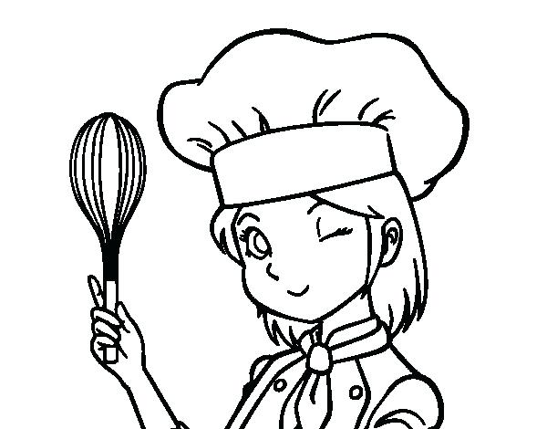 600x470 Chef Coloring Pages Coloring Pages The Chef Coloring Page