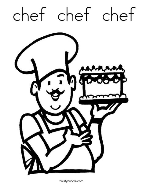 468x605 Chef Chef Chef Coloring Page