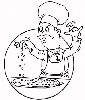 298x350 Chef Coloring Pages