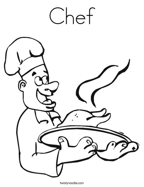 468x605 Chef Coloring Page