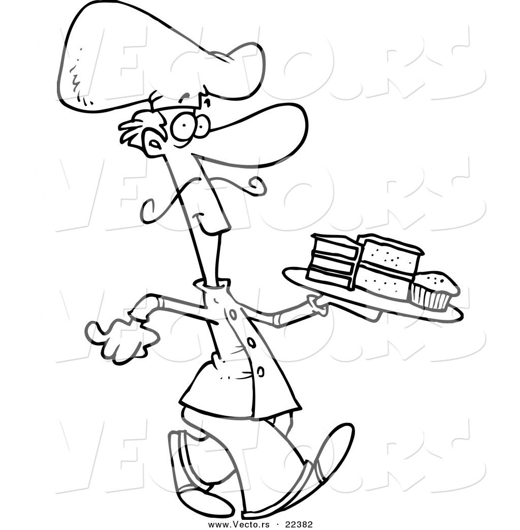 1024x1044 Chef Coloring Page