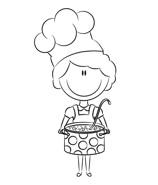 505x591 Chef Coloring Page Chef Coloring Page For Kids Pages Printable
