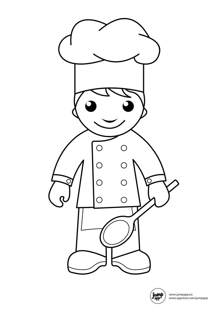736x1041 Chef Coloring Page Chef Coloring Pages In Chef Coloring Page