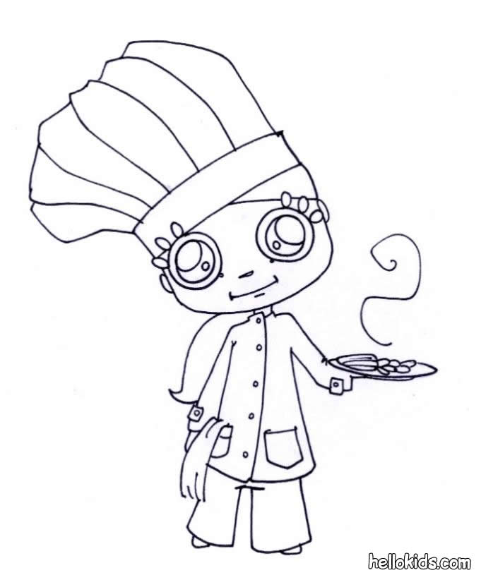 Chef Hat Coloring Page