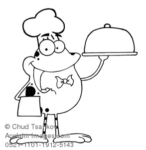 293x300 Clipart Image Of Animal Coloring Page Of A Frog Wearing A Chef