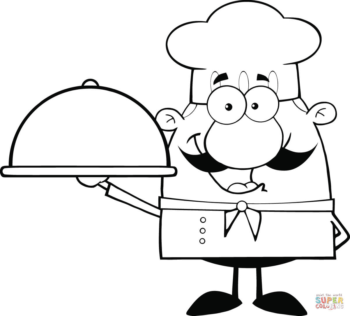 1202x1086 Chef Coloring Page