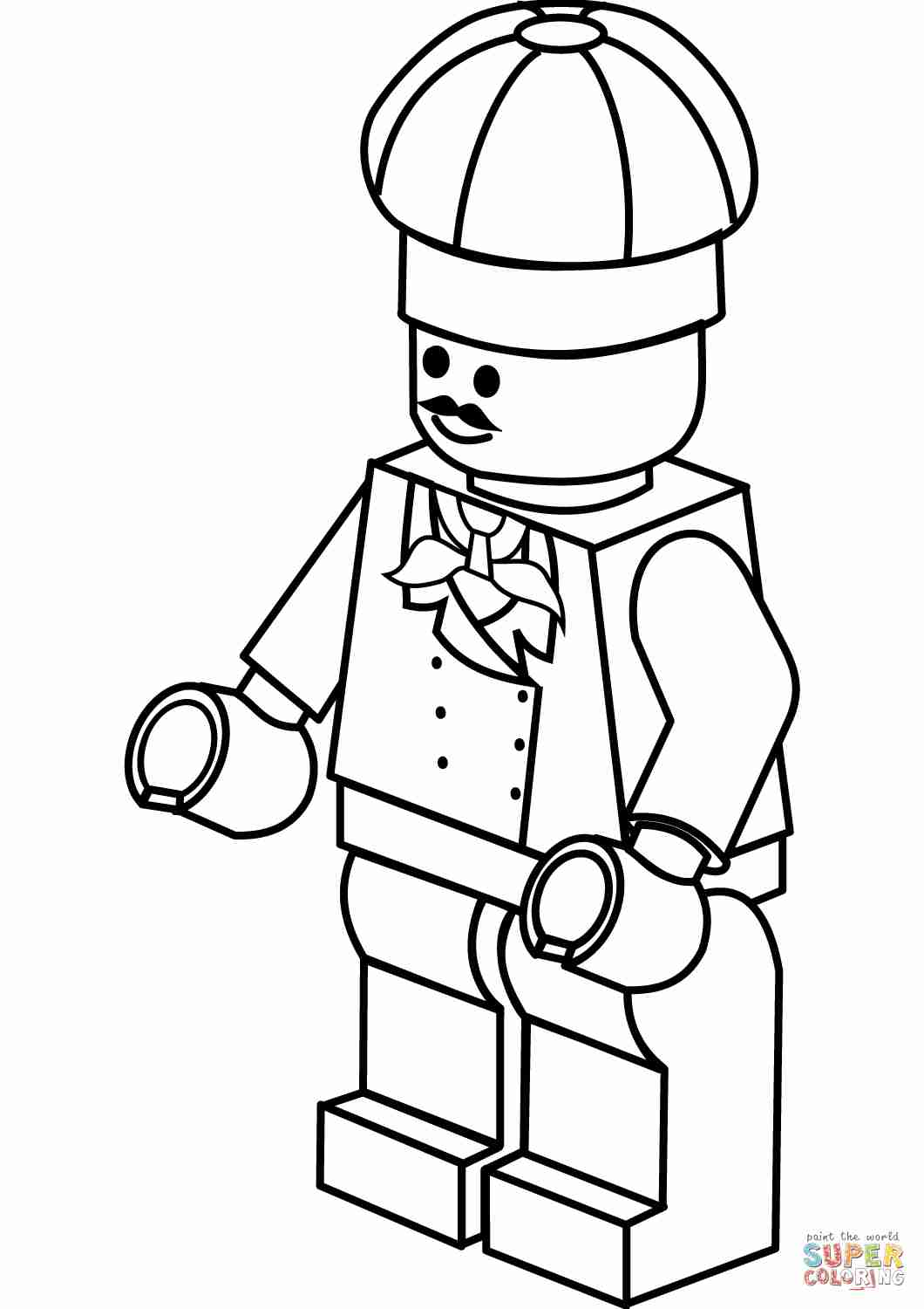 1060x1500 Lego Chef Coloring Page Free Printable Pages Lovely Olegratiy