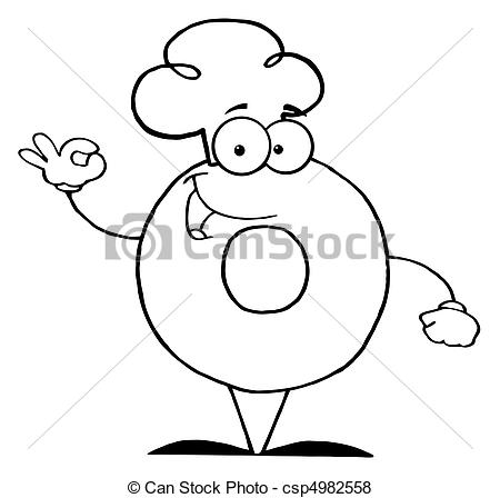 450x448 Outlined Donut Coloring Page Outline Of A Donut Character
