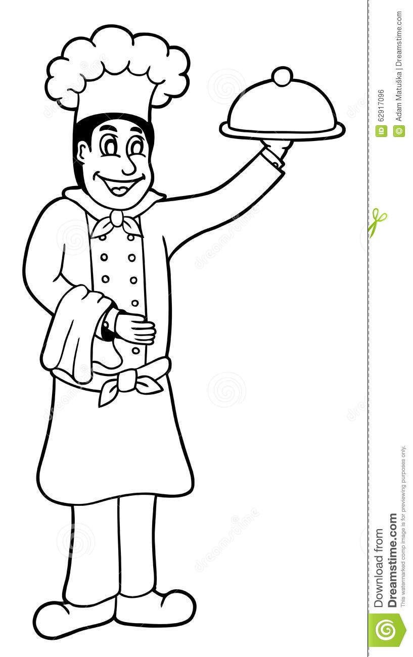 817x1300 Chef Coloring Pages